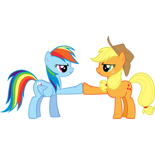 applejack, brohoof, rainbow dash