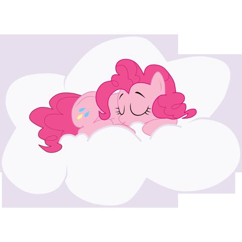 cloud, pinkie pie, sleeping