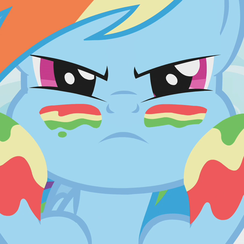 rainbow dash, war